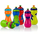 Nuby Gator Grip Sports Bottle with Pop-Up Sipper, Colors May Vary, 15-Ounce
