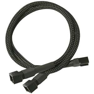Nanoxia 3 pins Molex câble adaptateur Y, 0,6 m, Sleeve