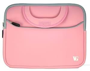 Sacoche pour lecteur de livre électronique Netbook (10 et 10,1 pouces) 25.4 et 25.65 cm Samsung Acer Aspire One Asus Dell HP Toshiba. (Rose)