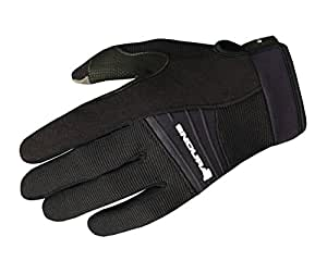 Endura Full Monty Summer Glove Black 2015 - Black , LRG