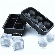 kitchenguru Silicone Ice Cube Trays -…