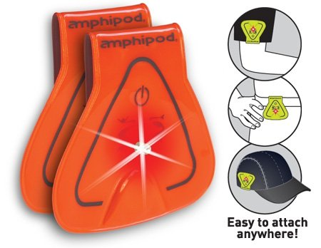Amphipod Vizlet LED Triangles 2-Pack: Neon Orange