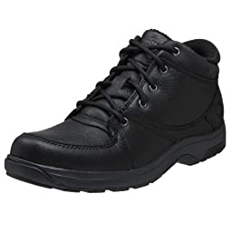 Dunham  Men\'s Addison Mid Cut Waterproof Boot,Black,12 B (N)