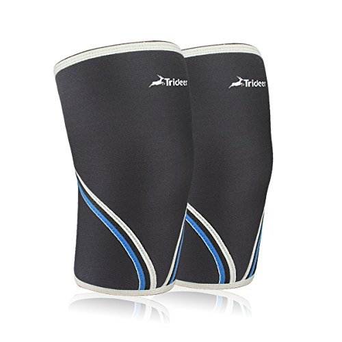 11f80e072e 1 Pair)Trideer® 7mm Knee Brace/Knee Sleeves for Squats, - Import It All