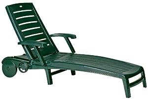 chaise longue de jardin plastique vert. Black Bedroom Furniture Sets. Home Design Ideas