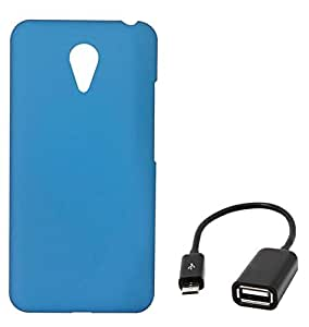 Chevron Back Cover Case for Meizu M2 Note with Micro OTG Cable (Aqua Blue)
