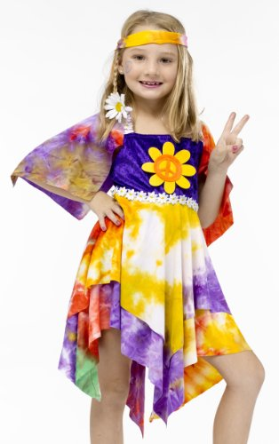Daisy Hippie Child Costume (Medium 8-10)
