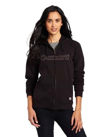 Carhartt Women's Midweight Graphic Hooded Sweatshirt,Black-Multi (Closeout),X-Large/Regular