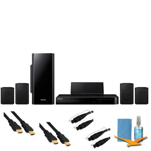 Samsung 5.1Ch Home Theater System 3D Blu-Ray Wifi Plus Hook-Up Bundle - Ht-H5500W