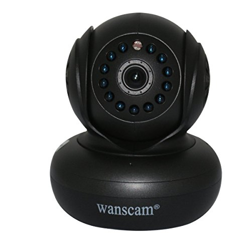 Wanscam Ir Cut Ip Network Camera Security Audio Wireless Wifi Alarm Night Vision Baby Monitor Dual Audio Pan Tilt Webcam With Tf Card Slot - Black front-274174