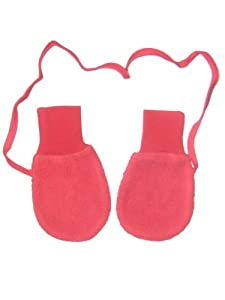 Zutano Unisex Baby Cozie Fleece Mittens W/String - Red - One Size
