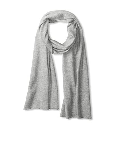 Thirty Five Kent Men's Cashmere Solid Feather Weight Scarf, Grey