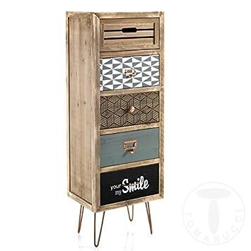 Mueble cajonera 5/C kijo (Kit de montaje 40x 30x 103,5cm) madera maciza de abeto