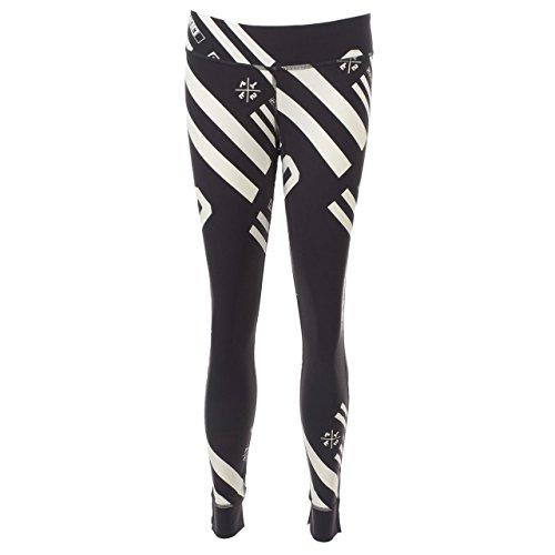 Reebok leggings abbigliamento donna, Donna, Gris (Coal/Blanco), S