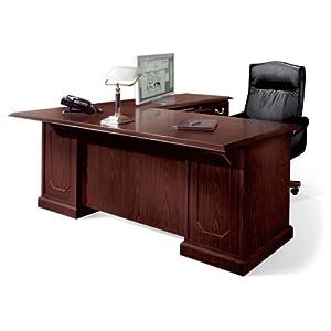 Mahogany 72 Executive Right L Desk Sherwood Mahogany Home Kitchen
