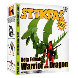 Stikfas Redeco Deluxe Action Figure Kit Beta Female Rider with Green Dragon