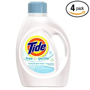 4-Pack Gentle Liquid Laundry Detergent