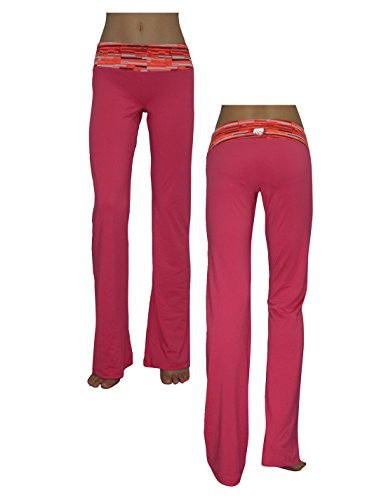 Marika Womens Comfortable Casual-Wear Lounge / Yoga Pants M Day Glo Pink