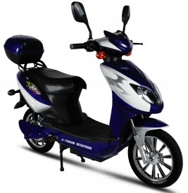 X-Treme Xb-615 Electric Bicycle Scooter E-Bike (Blue)