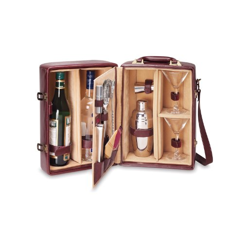 picnic-time-manhattan-insulated-two-bottle-cocktail-case-bar-tool-kit-mahogany