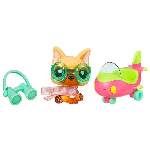 Littlest Pet Shop Pets On the Go Series 1 Dog with Airplane (Lps Bulldog Puppy compare prices)