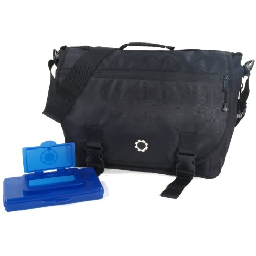 dadgear courier diaper bag solid black designer nappy bags nappy bags designer. Black Bedroom Furniture Sets. Home Design Ideas