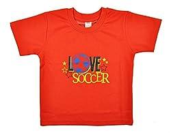 kandyfloss Boys' T-Shirt (MRHKF-BOYS'-TS-RED-2, Red, 5-6 Years)