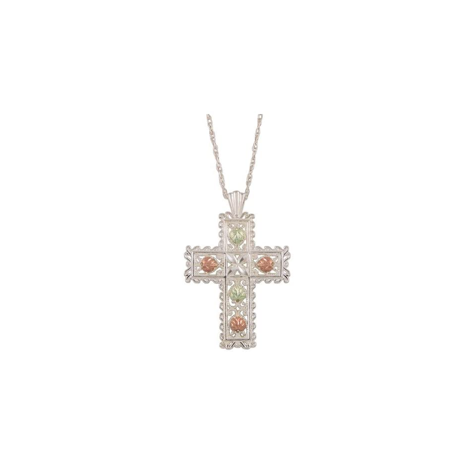Black Hills Gold by Coleman Lacey Sterling Silver Cross Necklace Jewelry