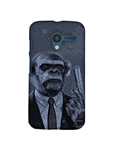 Gobzu Printed Hard Case Back Cover for Moto X1 / Moto X 1st Generation - Chimp Don