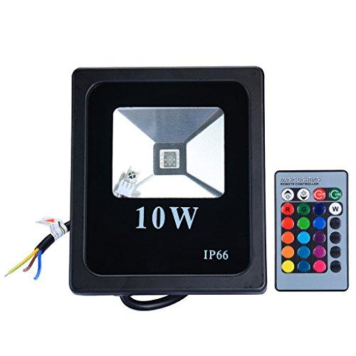 pryeu-faro-faretto-rgb-a-led-da-10w-multicolor-colori-uso-esterno-con-telecomando-impermeabile-ip65-