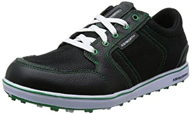 Ashworth Cardiff ADC Mesh Golf Shoes 2014 Mens Black/Dark Green 7 Regular Fit Mens Black/Dark Green 7 Regular Fit
