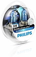 Comprar Philips BlueVision Ultra - Bombilla H4 para faros delanteros, 2 unidades