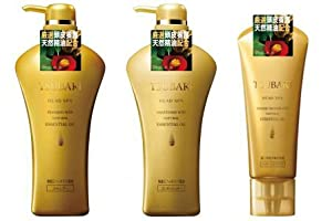 Shiseido TSUBAKI HEAD SPA SET (Shampoo, Conditioner and Massage Spa Mask)
