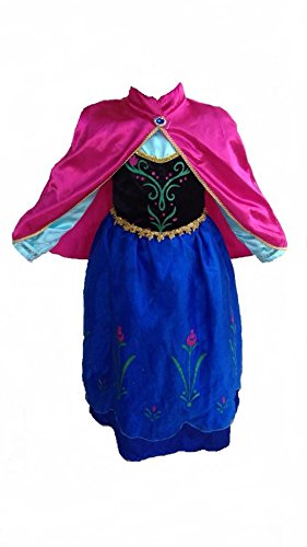 Deluxe Frozen-Inspired Anna Costume Dress