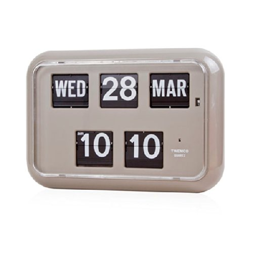 Retro Modern Twemco German Quartz Calendar Wall Flip Clock