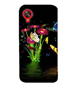 printtech Water Flowers Back Case Cover for LG Google Nexus 5::LG Google Nexus 5 (2014 1st Gen)