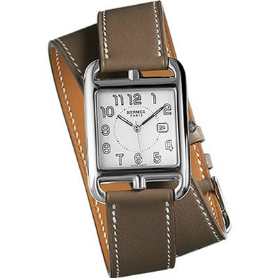 Hermes Cape Cod GM Medium Ladies Quartz Watch with Double Wrap Strap - 027457WW00
