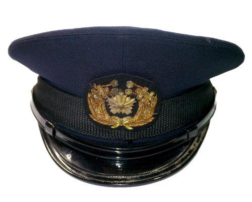 中古 旧型警察制帽 冬用