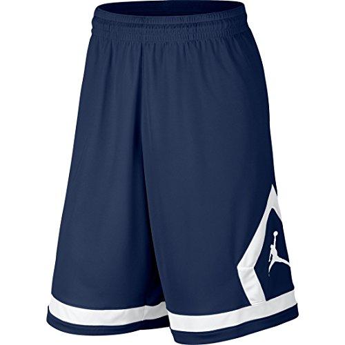 Nike Flight Diamond Shorts da Basket, Midnight Navy/White/White, L