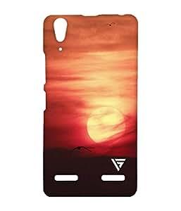 Vogueshell Sunset Bird Printed Symmetry PRO Series Hard Back Case for Lenovo A6000