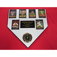 Boston Red Sox 2007 World Series Champions 6 Card Collector HOME PLATE Clock Plaque... by J & C Baseball Clubhouse