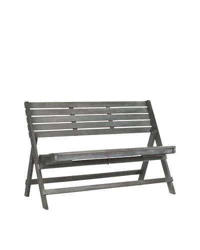 Safavieh Luca Folding Bench, Ash Grey