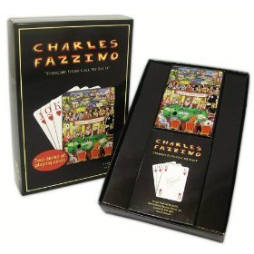 "Charles Fazzino ""Straight Flush Call My Bluff"" Playing Cards - 1"