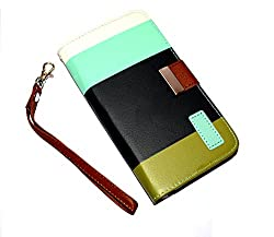 Gioiabazar Samsung Galaxy Grand Duos 2 G7106 Leather Flip Designer Stripe Wallet Case Cover Pouch Table Talk New Coffee