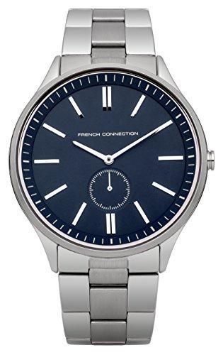 French Connection FC1244USM - Reloj para hombres, correa de acero inoxidable color plateado