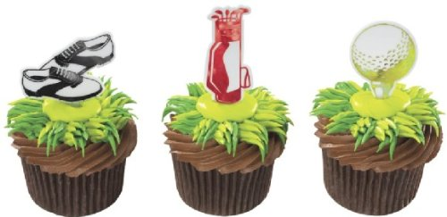 Cake Supplies Golf Assorted Cupcake Toppers