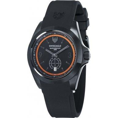 Swiss Eagle SE-9064-04 - Reloj para hombres, correa de silicona color negro