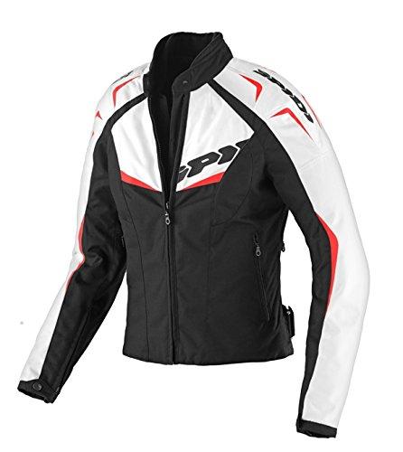 Spidi T173-021 Blouson Textile NW 200 Femme, Noir/Rouge, Taille XS