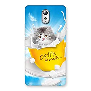 Enticing Kitty Coffee Multicolor Back Case Cover for Lenovo Vibe P1M