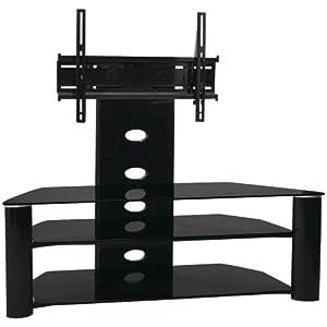 techcraft trk55b 55 inch wide tv stand black discontinued by manufacturer. Black Bedroom Furniture Sets. Home Design Ideas